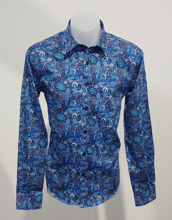 azure shirt