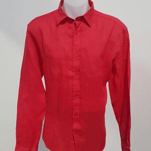 Linen Shirt - Coral