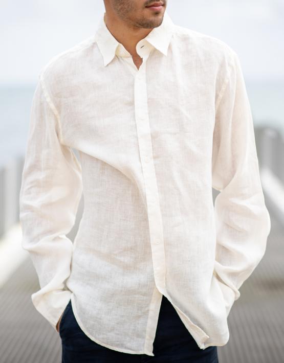 white linen phillips shirt