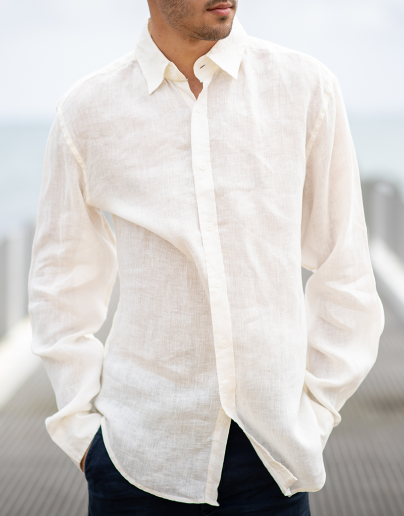 white linen phillips shirt