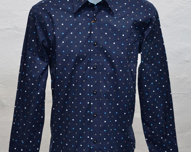 Navy Polka Shirt